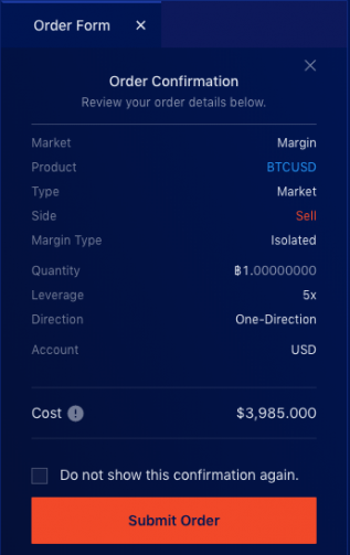 Liquid Exchange open isolated margin step 3b