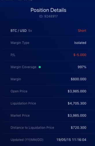 Liquid Exchange open isolated margin step 4e