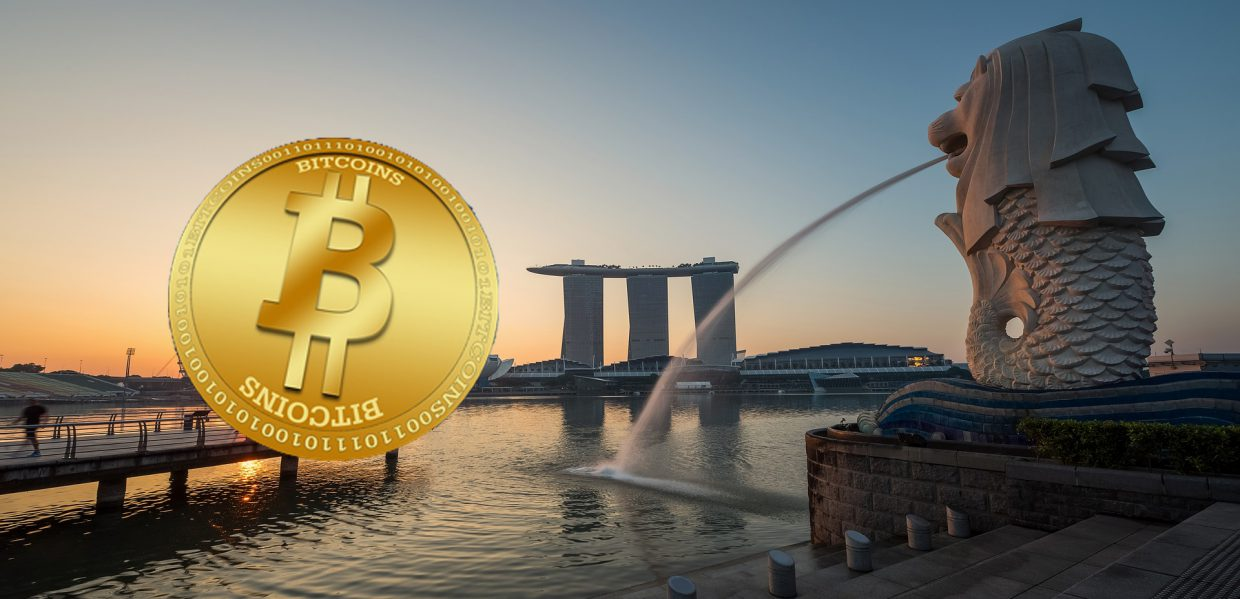 Singapore fountain Bitcoin