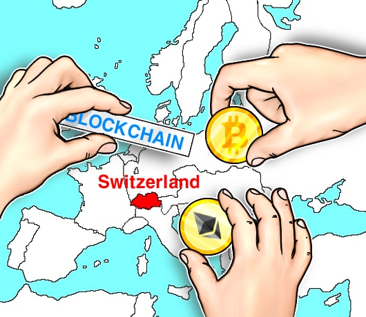Switzerland on the map with cryptocurrencies