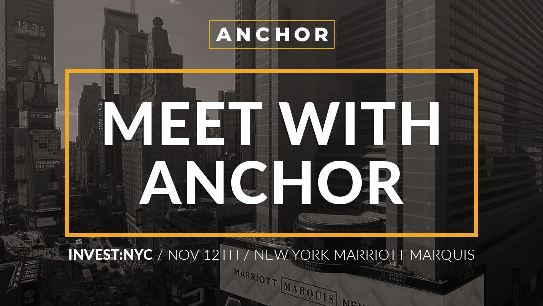 Anchor at Invest: NYC 2019