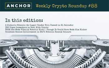History Made in El Salvador, IRS Continues to Fight Crypto, Vitalik's DOGE Story, Coinbase Was NOT Helping DOJ With Ransom Seizure